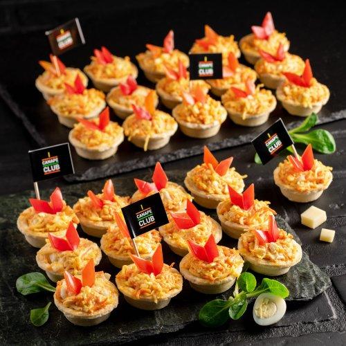 Тарталетки с морковным салатом Кинг Сайз