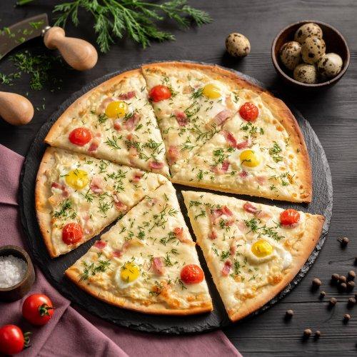 Пицца А-ля Карбонара