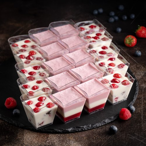 Дуэт творожных десертов в верринах