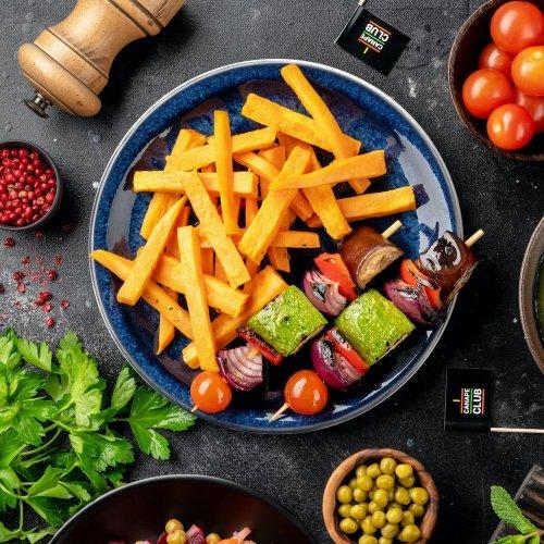 Овощные шашлычки с бататом