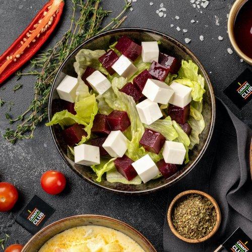 Салат из печеной свеклы с фетой